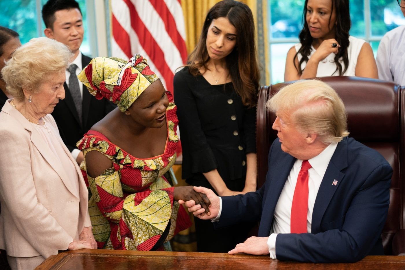 'I escaped from Boko Haram': Nigerian believer Esther tells her story to U.S. President Trump