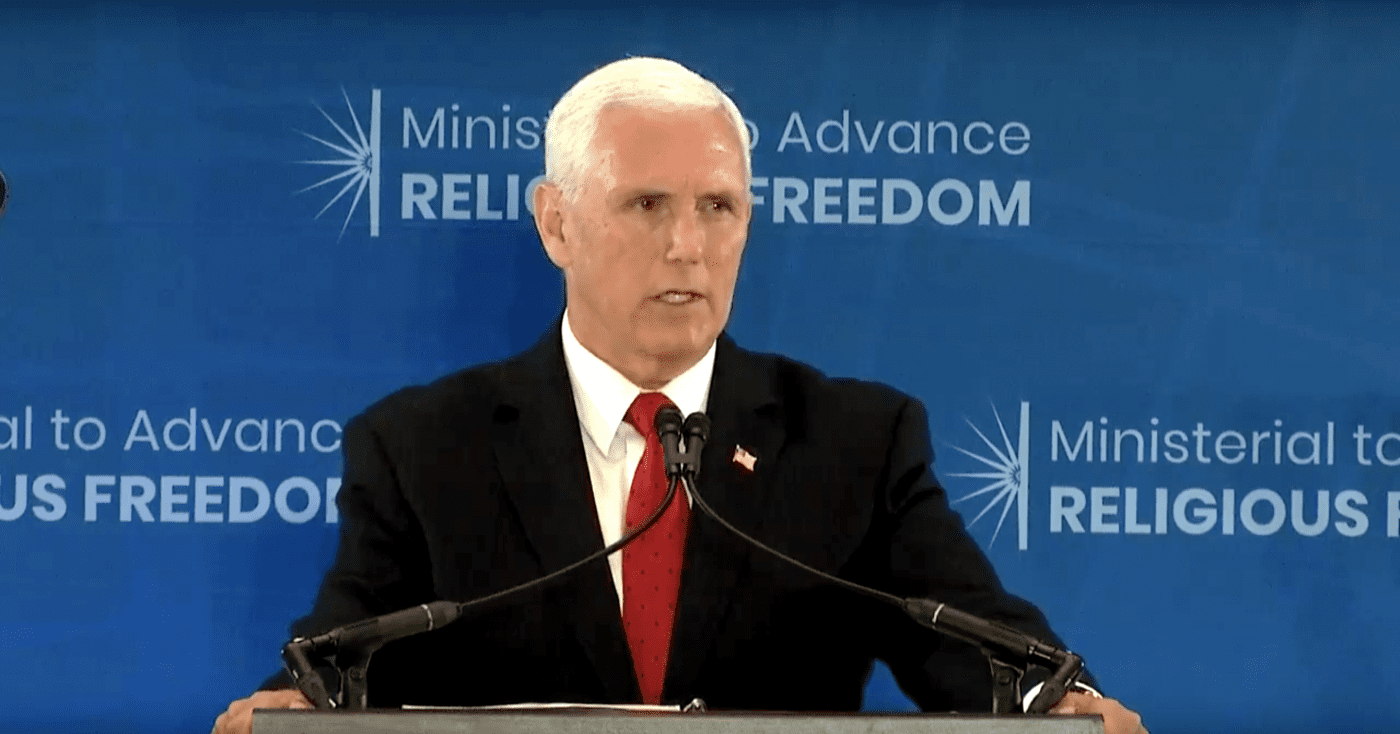 V.P. Pence pledges U.S. support for North Korean Christians